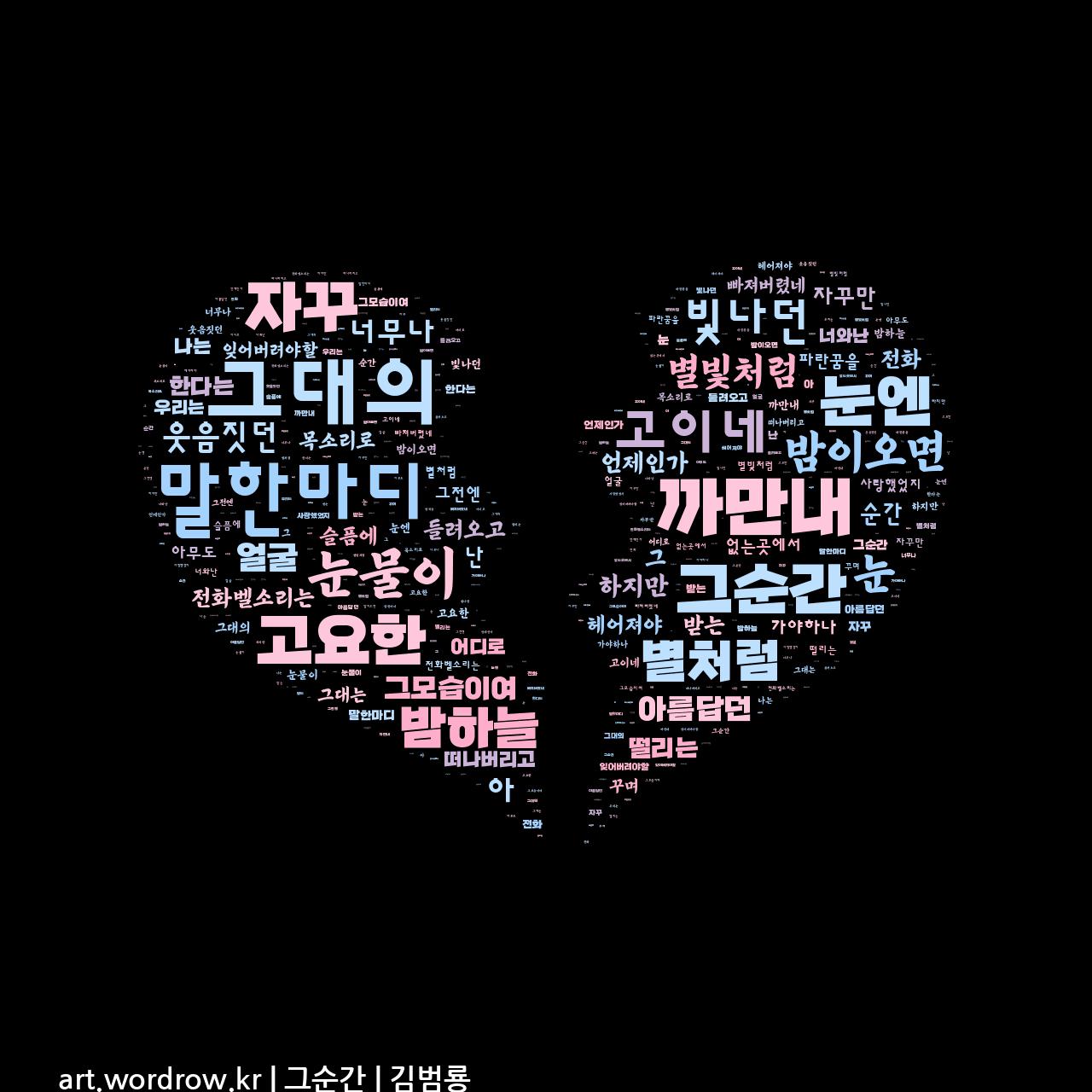 워드 아트: 그순간 [김범룡]-21